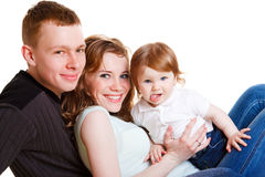 Parents and baby Stock Image
