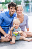 Parents with baby boy. Young parents with baby boy Royalty Free Stock Image