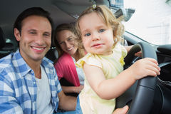 Parents and baby on a drive Stock Photography