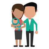 Parents and baby family Royalty Free Stock Images