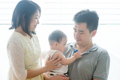 Asian parents and baby son Royalty Free Stock Images