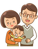 Parents and baby. An illustration of parents and baby vector illustration