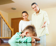 Parents berating teenager son Stock Photos