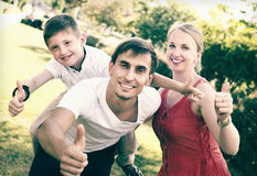 Parents with boy having fun Stock Photography