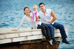 Parents with child Stock Image