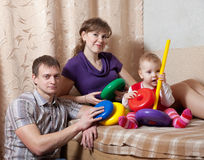 Parents and child Stock Images