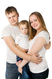Parents with child on hands Royalty Free Stock Photography