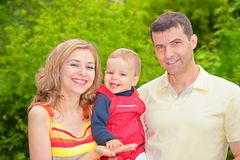 Parents and child in park Stock Photography