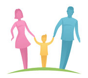Parents with child Royalty Free Stock Images