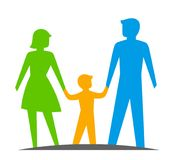 Parents with a child Royalty Free Stock Photo