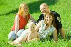 Parents with children Royalty Free Stock Image