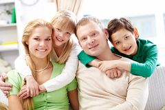 Parents and children Stock Photography