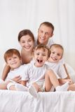 Parents with children Stock Photos