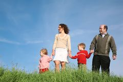 Parents with children Stock Images