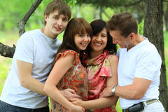Parents and children Royalty Free Stock Photography
