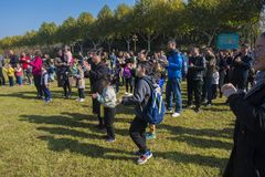 Parents and children of parent-child activities in yixing longback mountain park Royalty Free Stock Photos