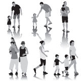 Parents with children royalty free illustration