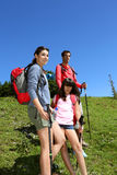 Parents and children on a hiking day Stock Photography