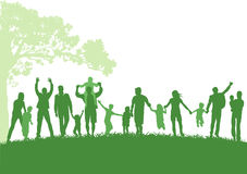 Parents with children outdoor Stock Image