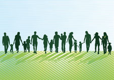 Parents with children and young people Stock Images