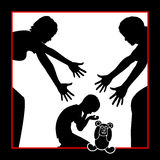 Parents comfort Child Royalty Free Stock Photo