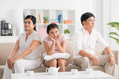 Parents conflict Stock Photography