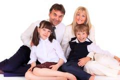 parents d'enfants Photos stock