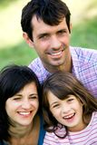 Parents with daughter Stock Images