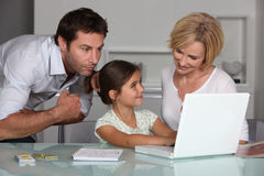 Parents and daughter Stock Photography