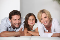 Parents with daughter Stock Photos