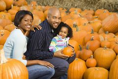 Parents and daughter. Royalty Free Stock Photos