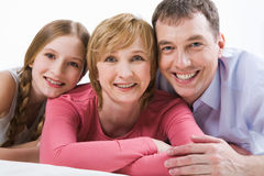 Parents and daughter Royalty Free Stock Photos