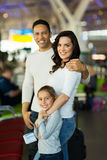 Parents daughter airport Stock Photography