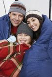 Parents With Daughter Camping Together Royalty Free Stock Photo