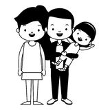 Parents and daughter. Family vector illustration design stock illustration