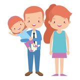 Parents and daughter. Family vector illustration design vector illustration