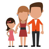 Parents with daughter family. Vector illustration eps 10 Stock Images