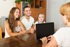 Parents with daughter Royalty Free Stock Photos