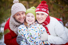 Parents and daughter Royalty Free Stock Image
