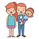 Parents and daughter. Family vector illustration design royalty free illustration