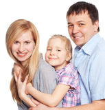 Parents with daughter at studio Royalty Free Stock Photos