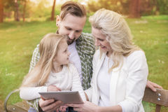 Parents with daughter royalty free stock image