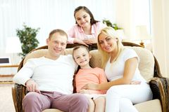 Parents and daughters Stock Image