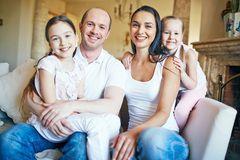 Parents with daughters Royalty Free Stock Images
