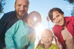 Parents and daughtes Stock Photos