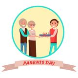 Parents Day Banner with Colorful Inscription Royalty Free Stock Photo