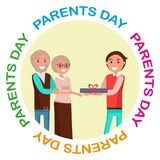 Parents Day Banner with Colorful Inscription Royalty Free Stock Image