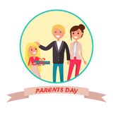 Parents Day Banner with Colourful Inscription Royalty Free Stock Image