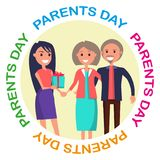 Parents Day Banner Showing Happy Family Royalty Free Stock Image