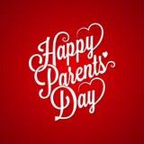 Parents day vintage lettering background Stock Images